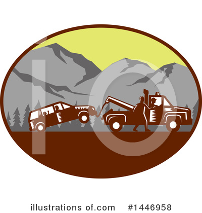 Royalty-Free (RF) Towing Clipart Illustration by patrimonio - Stock Sample #1446958