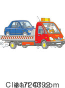 Towing Clipart #1724392 by Alex Bannykh