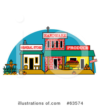 Royalty free rf town clipart illustration by andy nortnik stock