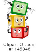Royalty-Free (RF) toy blocks Clipart Illustration #1145346