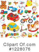 Royalty-Free (RF) Toy Clipart Illustration #1228076