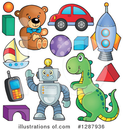 Royalty-Free (RF) Toy Clipart Illustration by visekart - Stock Sample #1287936