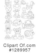 Royalty-Free (RF) Toy Clipart Illustration #1289957