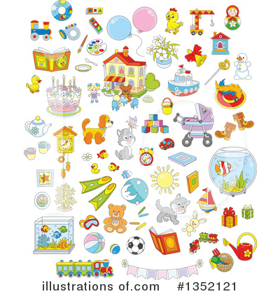 Royalty-Free (RF) Toy Clipart Illustration by Alex Bannykh - Stock Sample #1352121