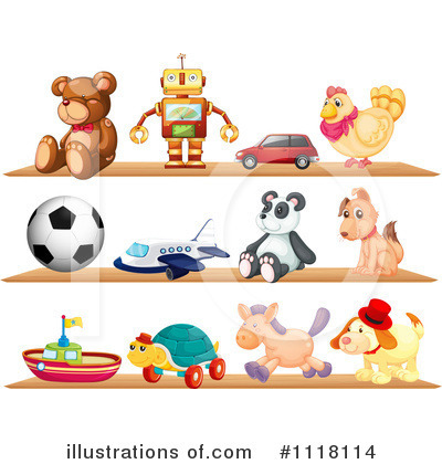 Royalty-Free (RF) Toys Clipart Illustration by Graphics RF - Stock Sample #1118114