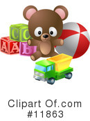 Royalty-Free (RF) toys Clipart Illustration #11863