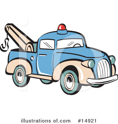 Tow Truck Clipart #14921 by Andy Nortnik