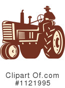Royalty-Free (RF) tractor Clipart Illustration #1121995