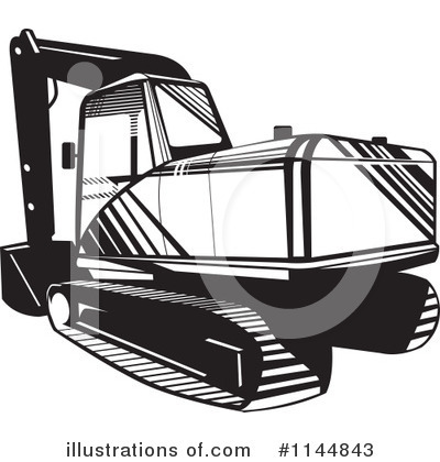 Royalty-Free (RF) Tractor Clipart Illustration by patrimonio - Stock Sample #1144843