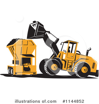 Heavy Machinery Clipart #1144852 by patrimonio