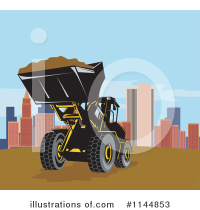 Bulldozer Clipart #1144853 by patrimonio