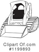 Clipart Of Skid Steer Loaders 1 18 Royalty Free Rf