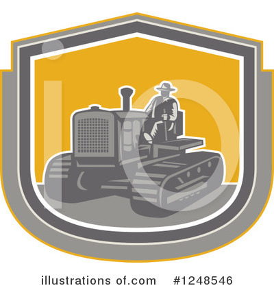 Royalty-Free (RF) Tractor Clipart Illustration by patrimonio - Stock Sample #1248546