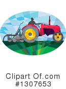 Royalty-Free (RF) Tractor Clipart Illustration #1307653