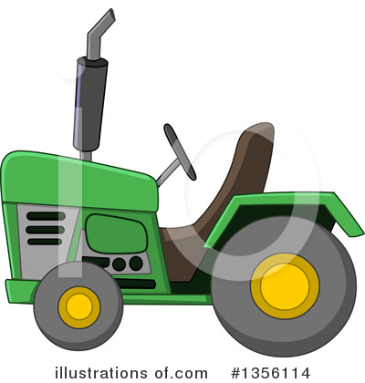 Royalty-Free (RF) Tractor Clipart Illustration by yayayoyo - Stock Sample #1356114