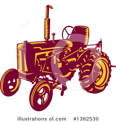 Royalty-Free (RF) Tractor Clipart Illustration by patrimonio - Stock Sample #1362530