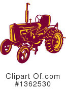 Royalty-Free (RF) Tractor Clipart Illustration #1362530