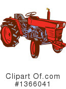 Royalty-Free (RF) Tractor Clipart Illustration #1366041