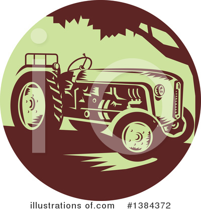 Royalty-Free (RF) Tractor Clipart Illustration by patrimonio - Stock Sample #1384372