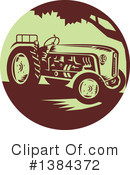 Royalty-Free (RF) Tractor Clipart Illustration #1384372
