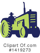 Royalty-Free (RF) Tractor Clipart Illustration #1419273