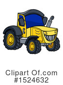 Royalty-Free (RF) Tractor Clipart Illustration #1524632