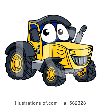 Royalty-Free (RF) Tractor Clipart Illustration by AtStockIllustration - Stock Sample #1562328