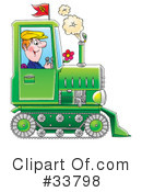 Royalty-Free (RF) tractor Clipart Illustration #33798