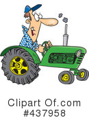 Royalty-Free (RF) tractor Clipart Illustration #437958