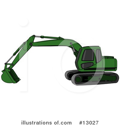 Royalty-Free (RF) Tractors Clipart Illustration by djart - Stock Sample #13027
