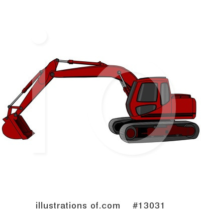 Royalty-Free (RF) Tractors Clipart Illustration by djart - Stock Sample #13031