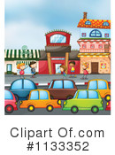 Royalty-Free (RF) traffic Clipart Illustration #1133352