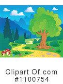 Royalty-Free (RF) Trail Clipart Illustration #1100754