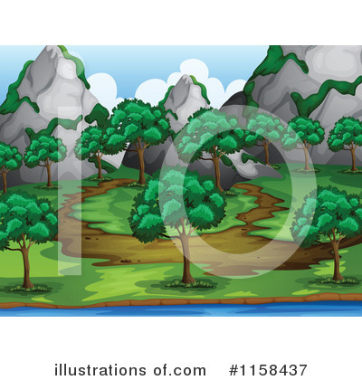 Royalty-Free (RF) Trail Clipart Illustration by Graphics RF - Stock Sample #1158437