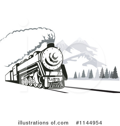 Railroad Clipart #1144954 by patrimonio