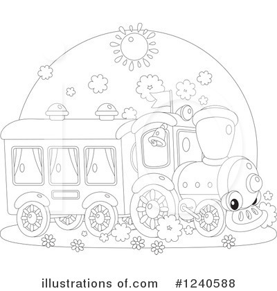 Train Clipart #1240588 by Alex Bannykh