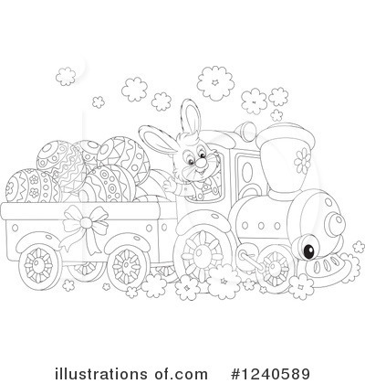 Royalty-Free (RF) Train Clipart Illustration by Alex Bannykh - Stock Sample #1240589