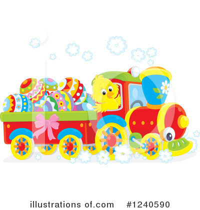 Royalty-Free (RF) Train Clipart Illustration by Alex Bannykh - Stock Sample #1240590