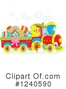 Royalty-Free (RF) Train Clipart Illustration #1240590