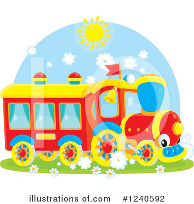 Train Clipart #1240592 by Alex Bannykh