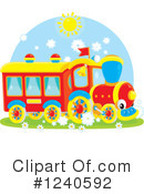Royalty-Free (RF) Train Clipart Illustration #1240592