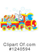 Royalty-Free (RF) Train Clipart Illustration #1240594