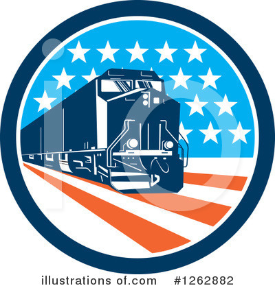 Train Clipart #1262882 by patrimonio