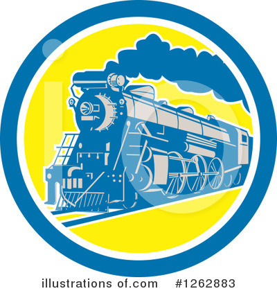 Railroad Clipart #1262883 by patrimonio