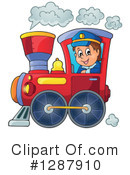 Royalty-Free (RF) Train Clipart Illustration #1287910