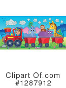 Royalty-Free (RF) Train Clipart Illustration #1287912