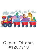 Royalty-Free (RF) Train Clipart Illustration #1287913