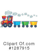 Royalty-Free (RF) Train Clipart Illustration #1287915