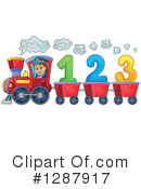 Royalty-Free (RF) Train Clipart Illustration #1287917