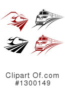 Royalty-Free (RF) Train Clipart Illustration #1300149